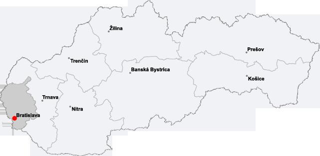 Bratislava+slovakia+map
