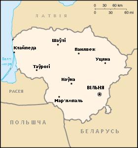 Мапа Летувы