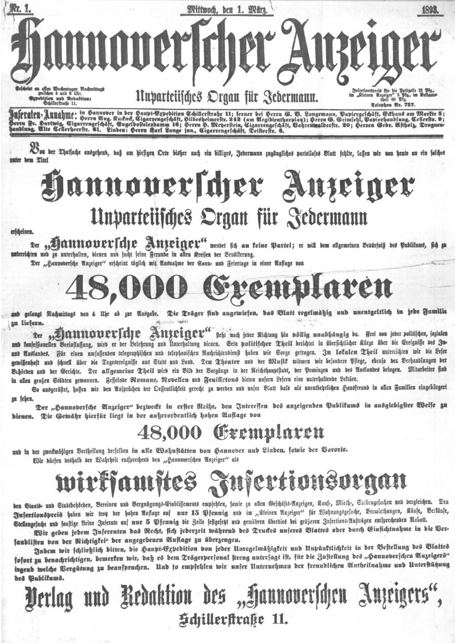 hannoversche allgemeine zeitung bekanntschaften