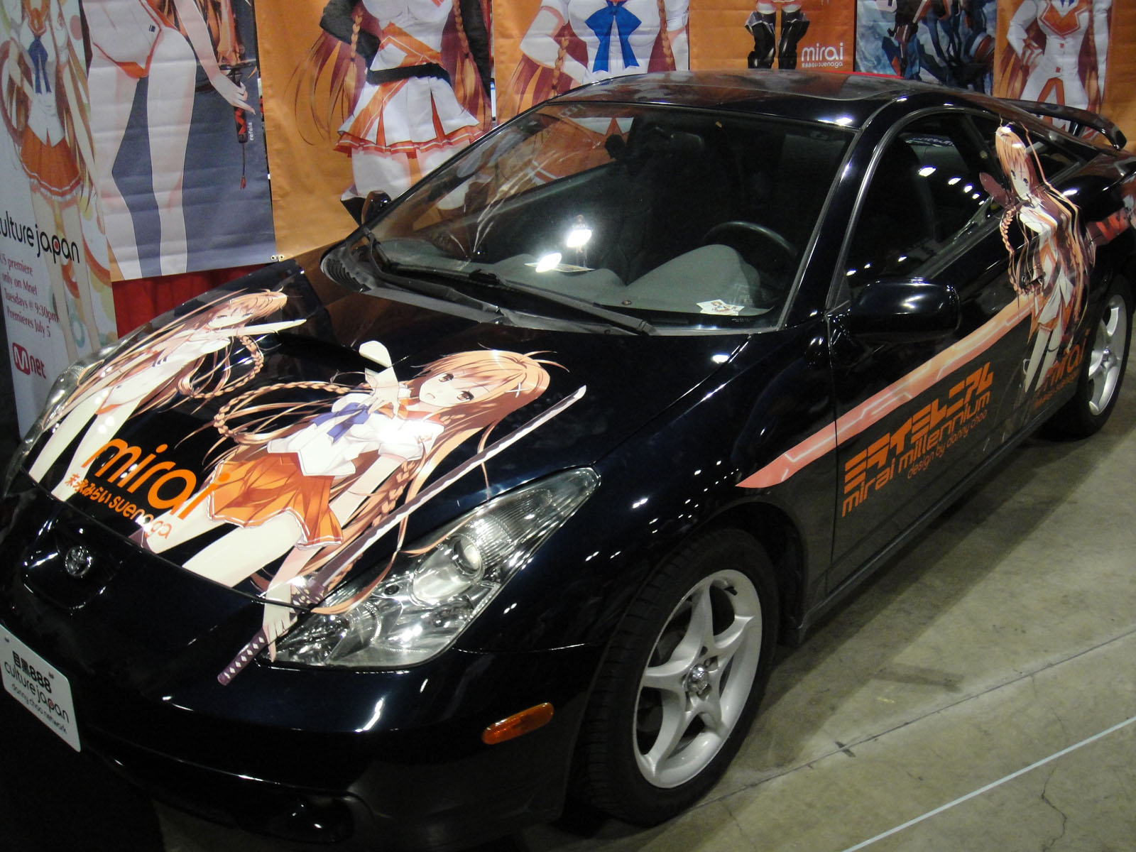 File:Mirai Suenaga itasha of Culture Japan booth, Anime Expo