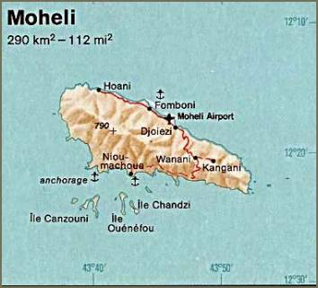 Map of Moheli