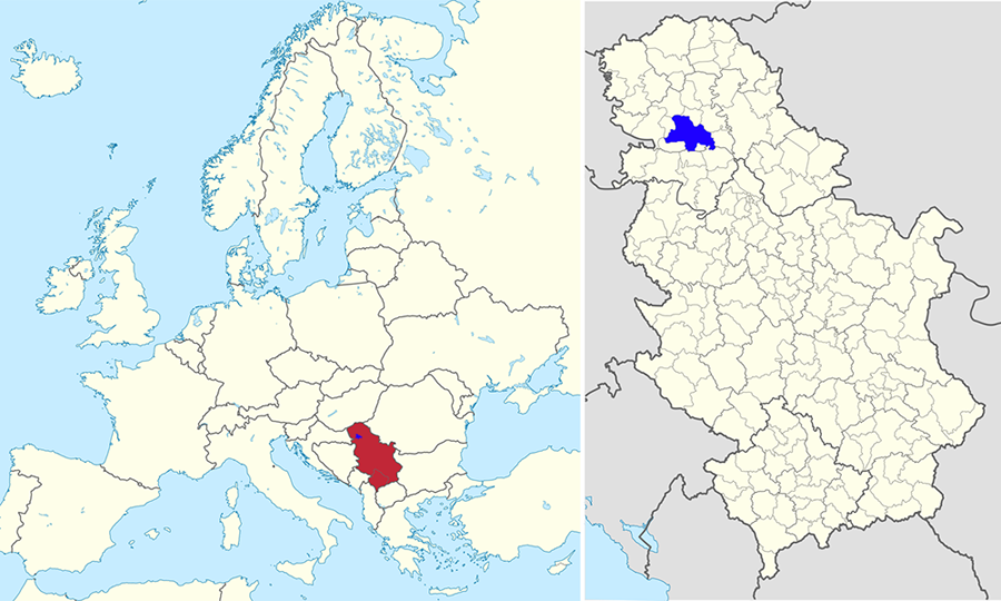 FileNovi Sad In Serbia And Europepng Wikimedia Commons - Novi sad map