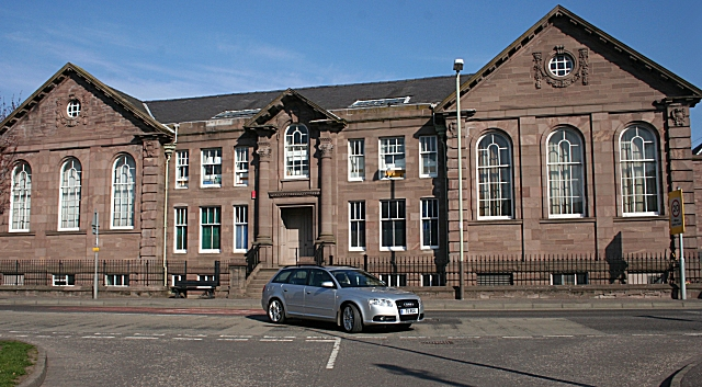 File Old Forfar Academy West Block Geograph Org Uk