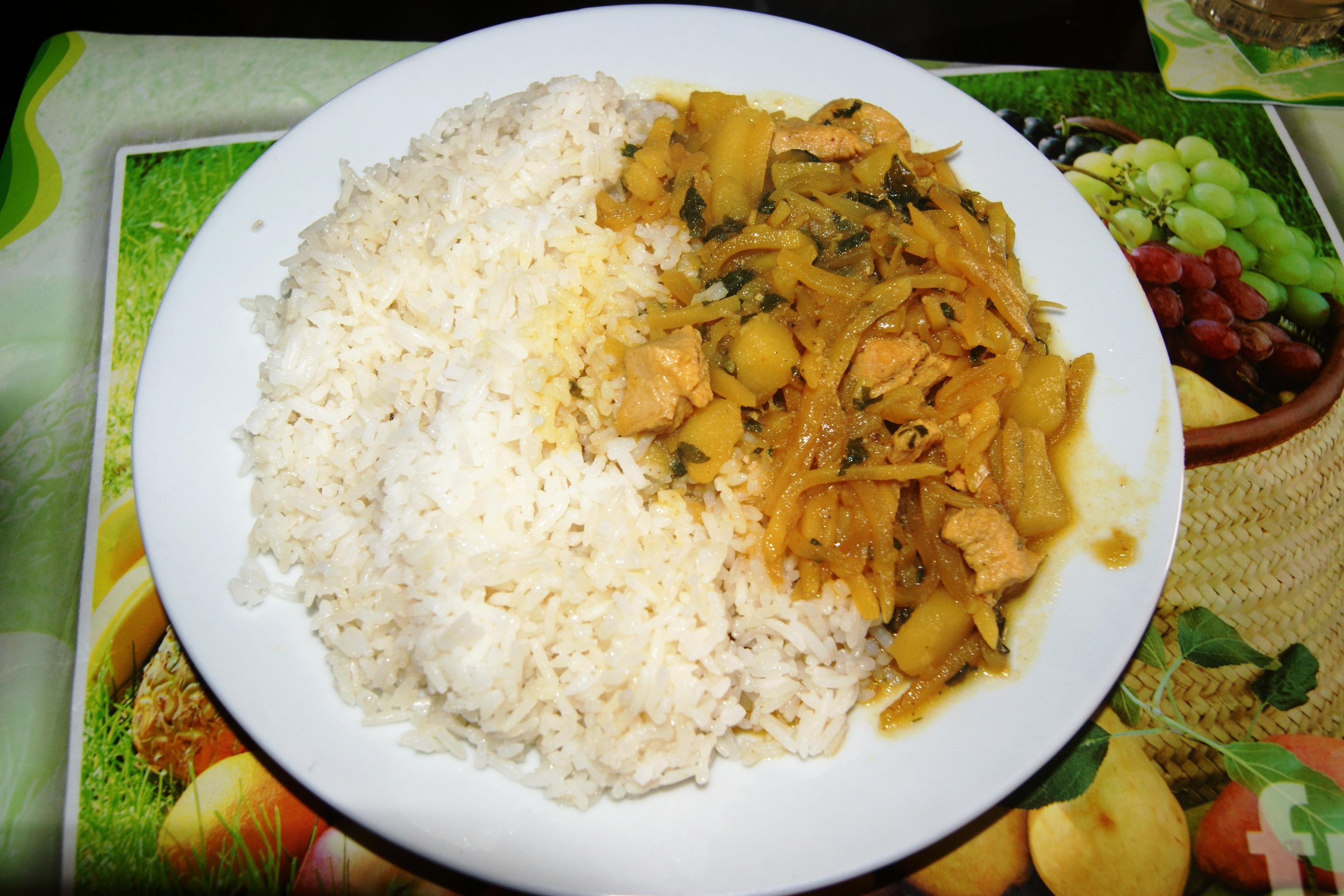File olluquito con pollo y arroz blanco a - Comidas con arroz blanco ...