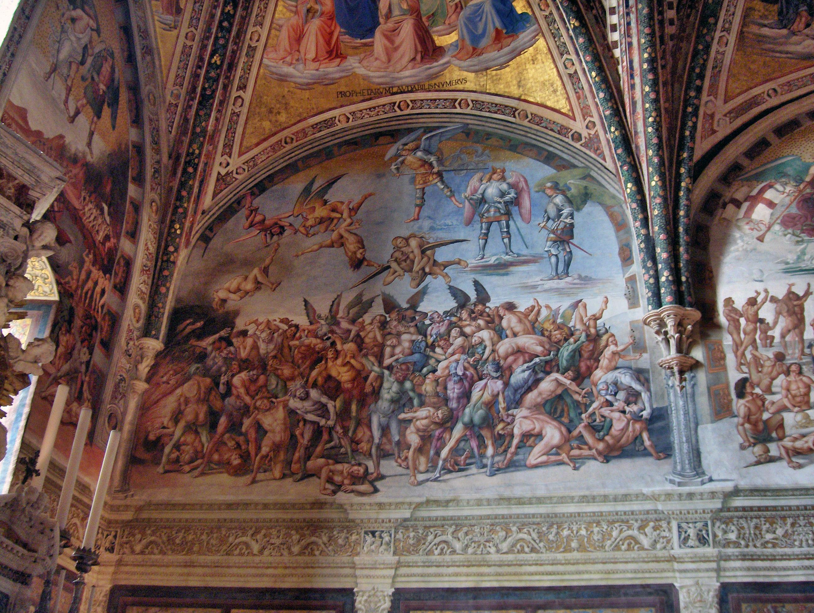 sistine chapel last judgement hell
