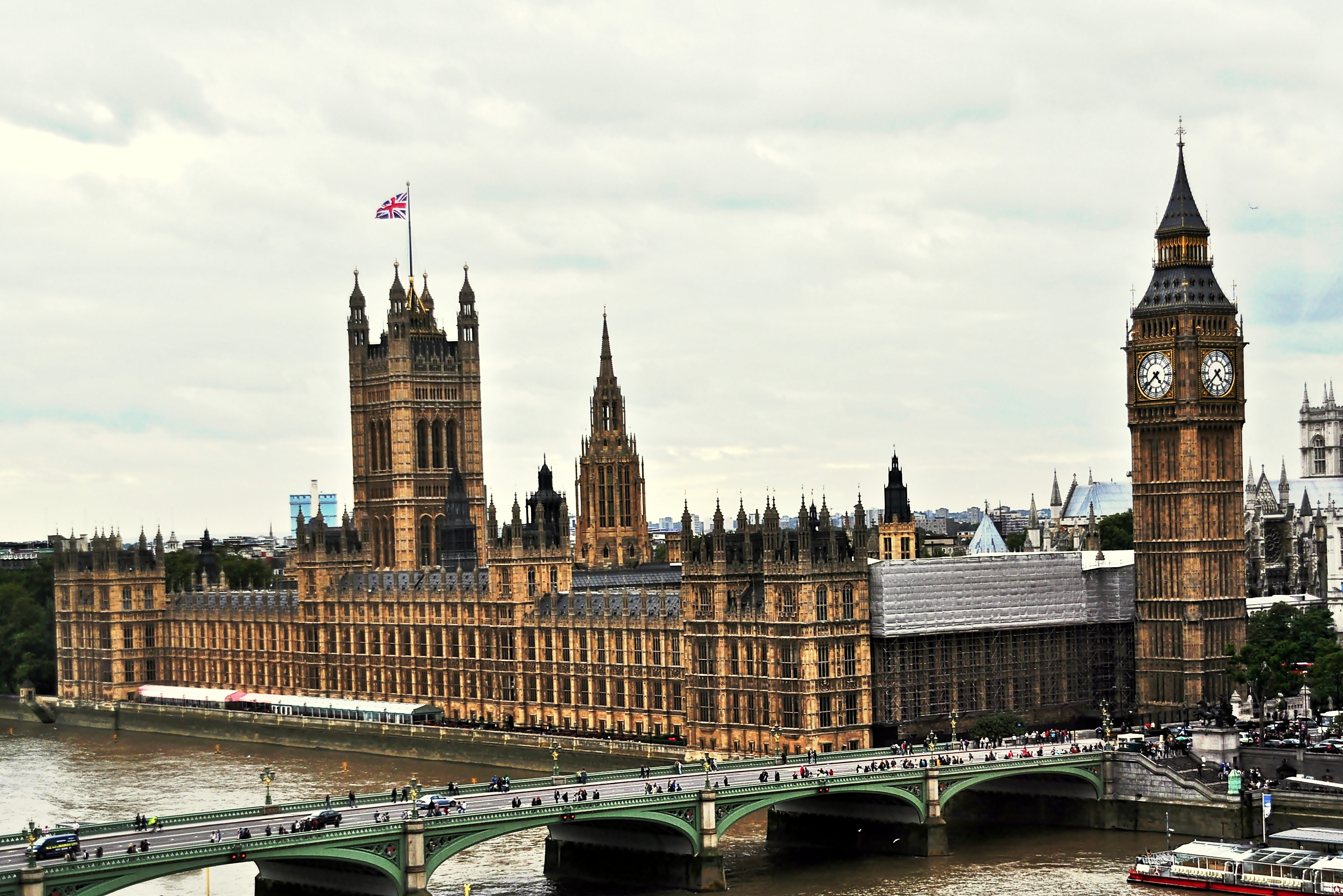 A photo of the Palace of Westminster