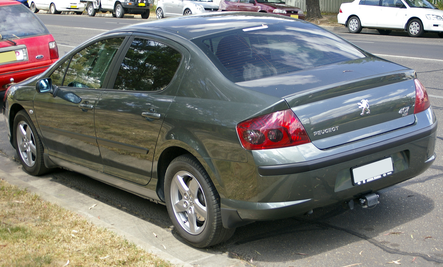 File Peugeot 407 Hdi Rear View Jpg Wikimedia Commons