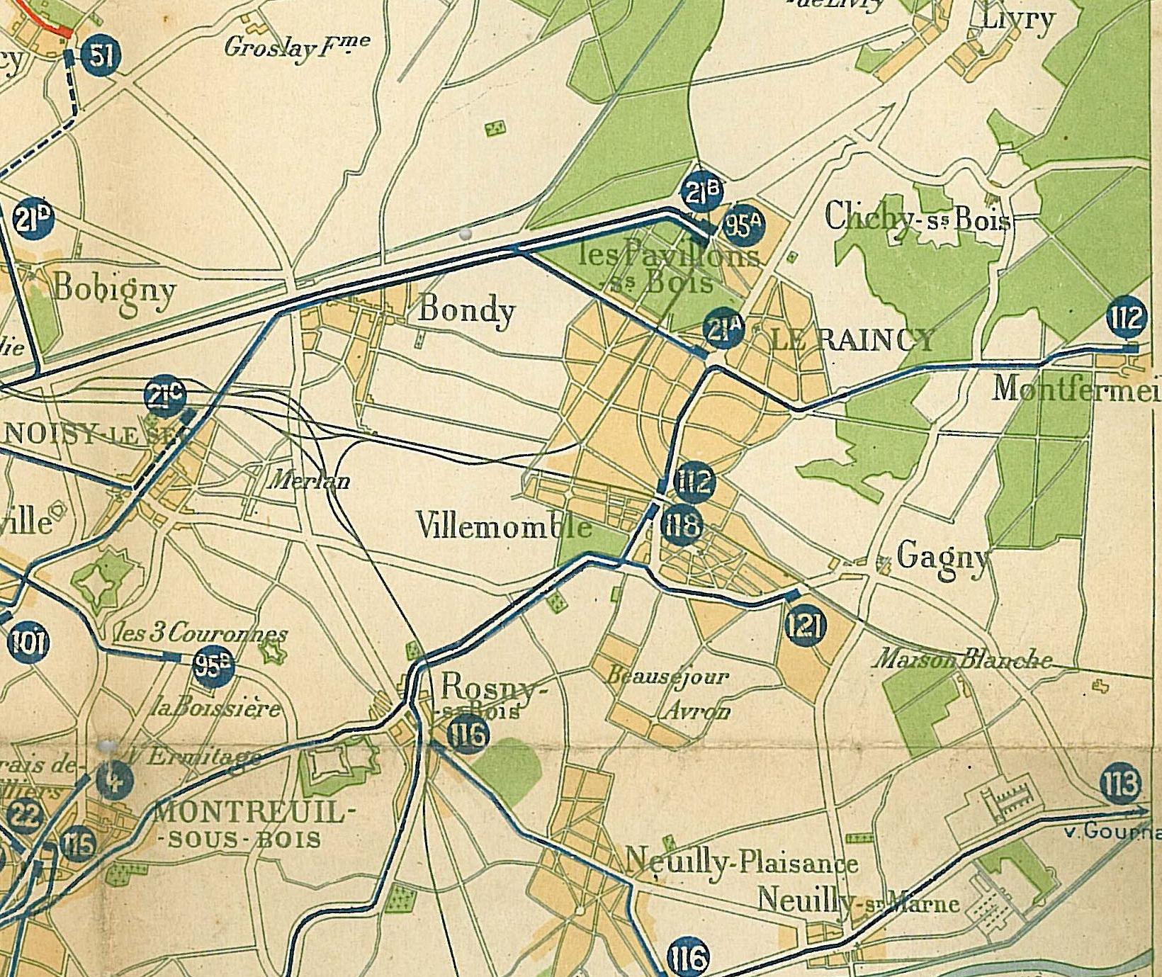 The commune of Les PavillonssousBois was created  ~ Rer Aulnay Sous Bois