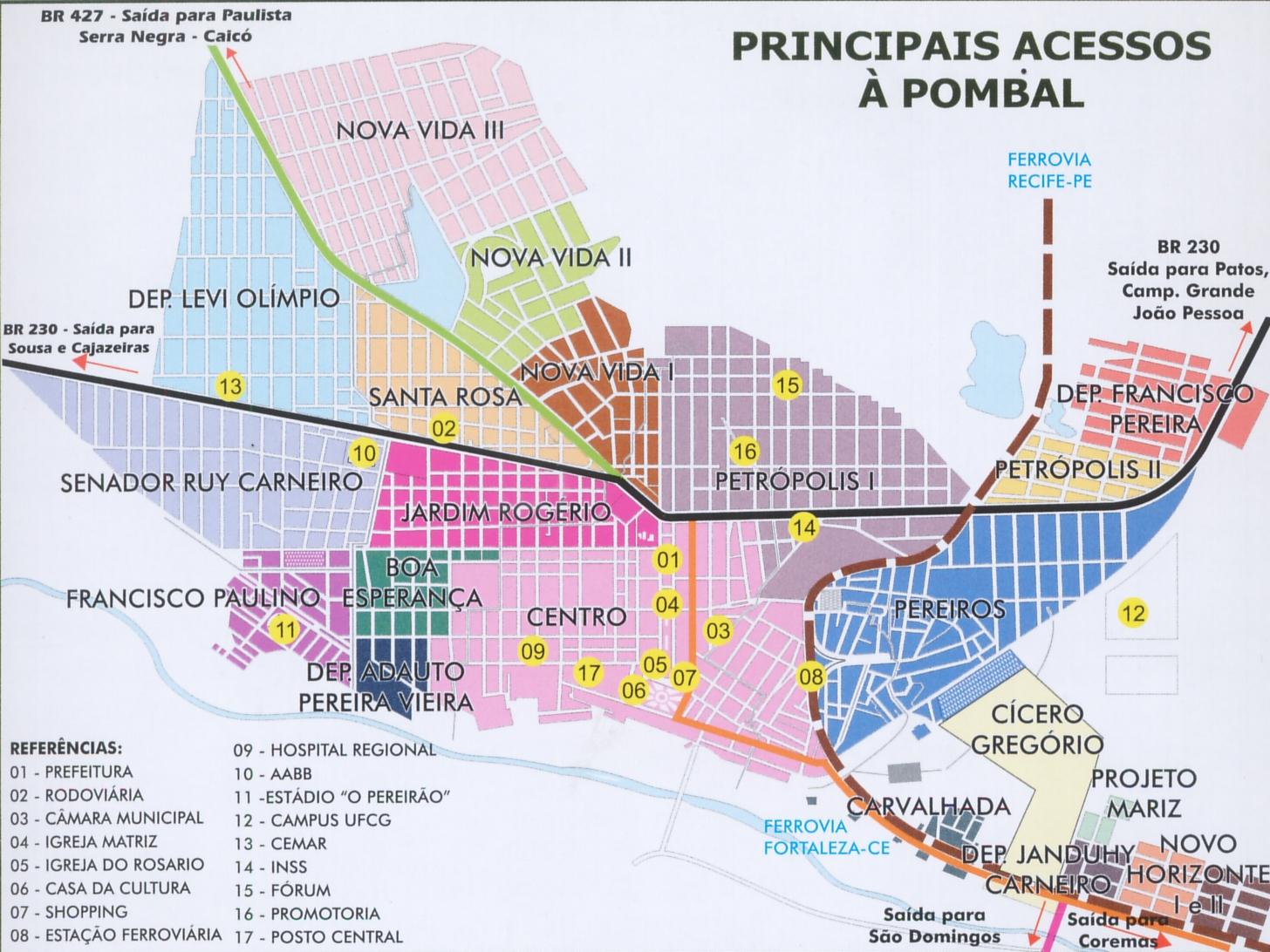 pombal mapa Ficheiro:Pombal   Mapa (Paraíba). – Wikipédia, a enciclopédia livre pombal mapa