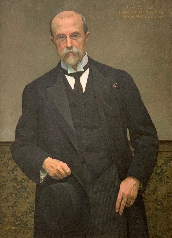 File:Portrait de Tomáš Garrigue Masaryk (1919) par Vojtěch Hinais  (Veletržní palác, Prague).jpg - Wikimedia Commons