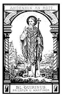 Andaktsbilde fra 1800-tallet fra Quirinusoktaven i Rott ved Aachen
