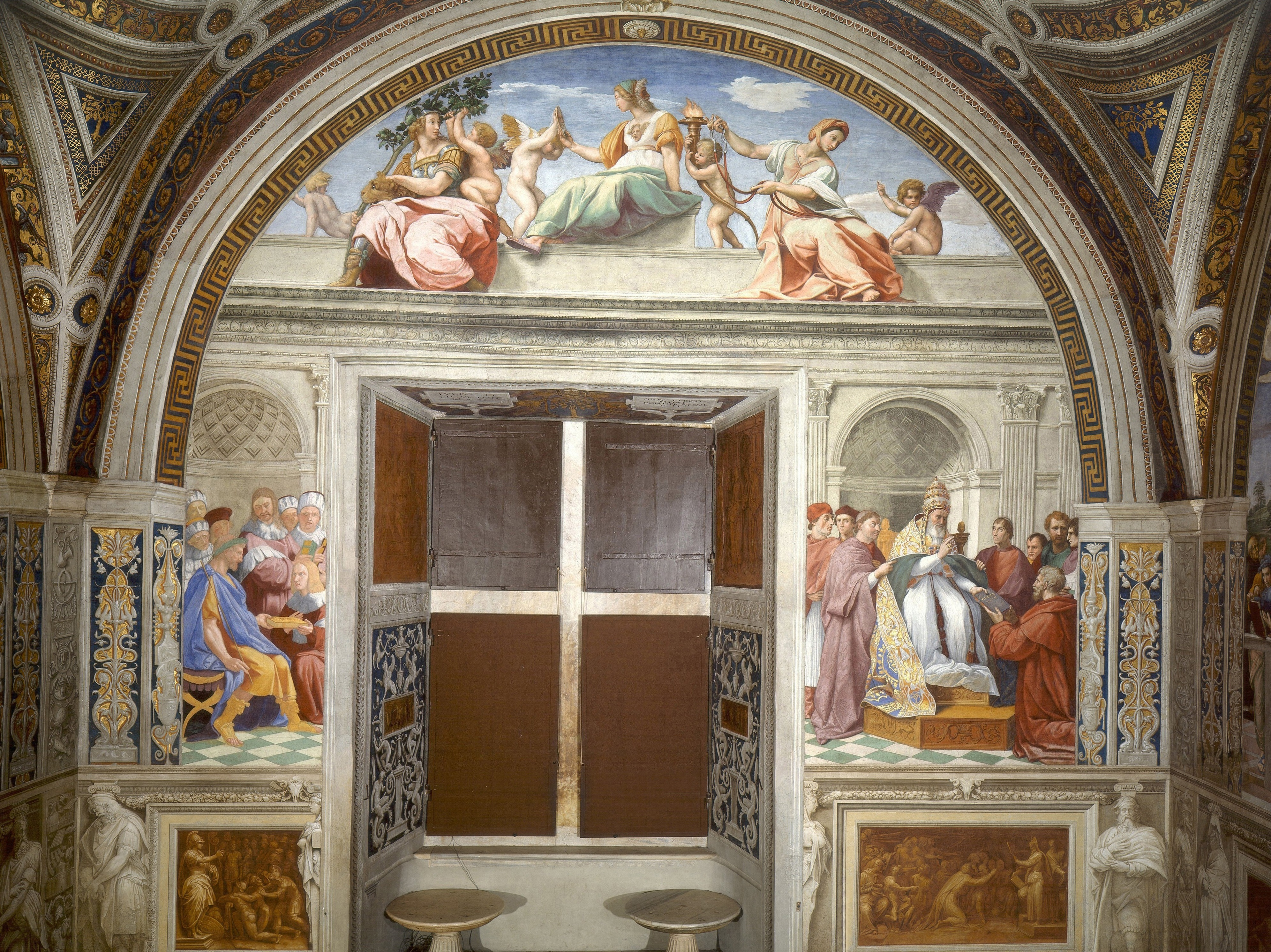 an analysis of the school of athens a fresco by rafael sanzio Raphael peers directly out to his audience in the school of athens fresco inside the vatican museum photo property of eurotravelogue™ unauthorized use is prohibited.