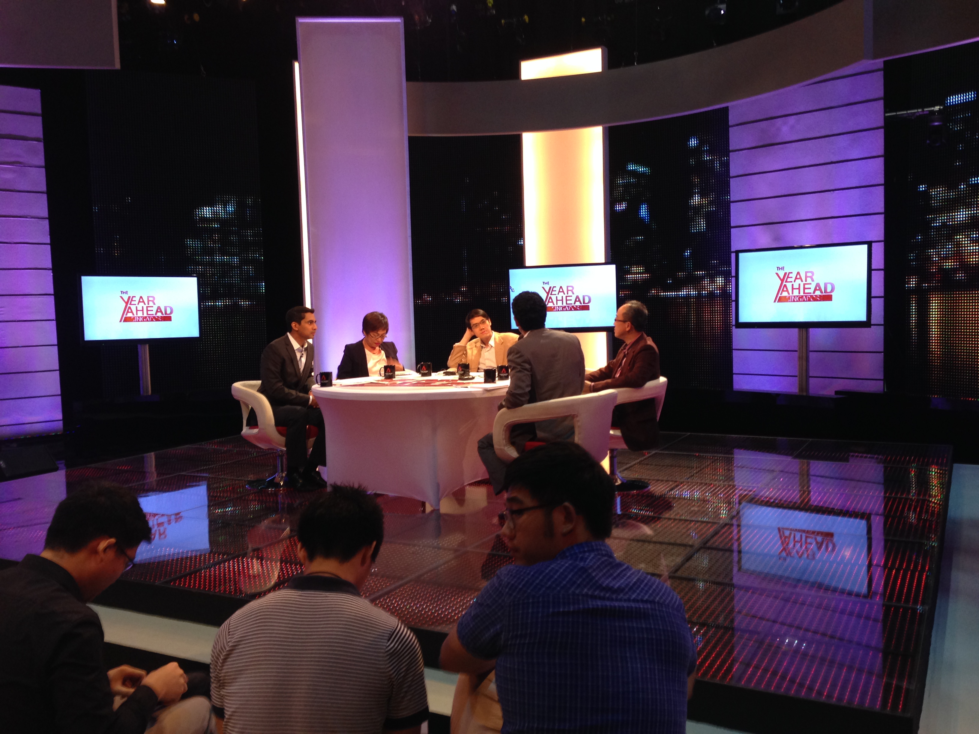 File:Recording of a Channel NewsAsia programme at MediaCorp