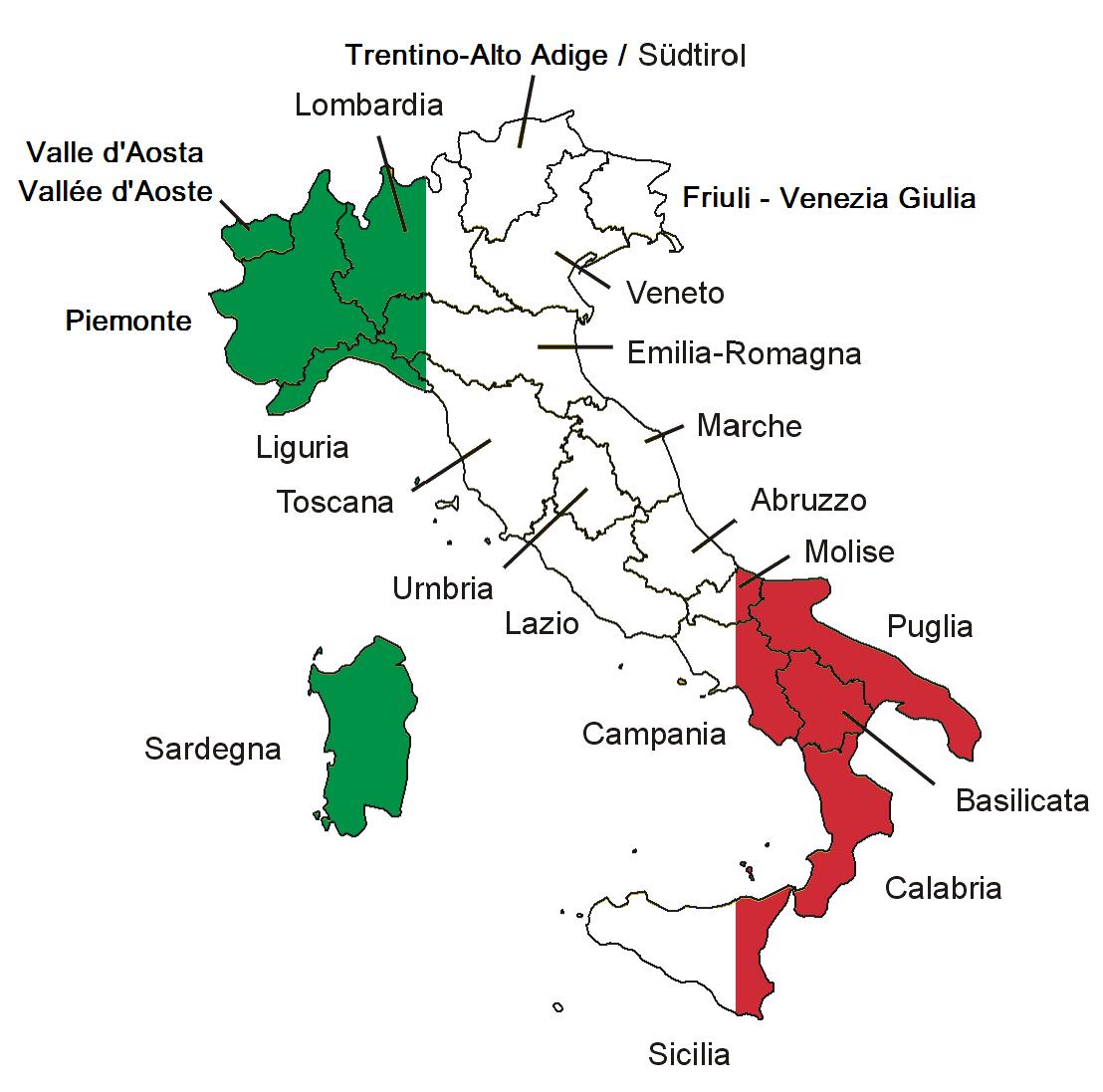 Italia Maakunnat