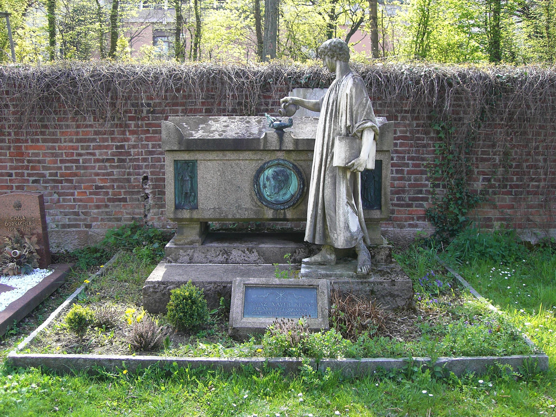 Gravesite of Kraus at the Hauptfriedhof Freiburg