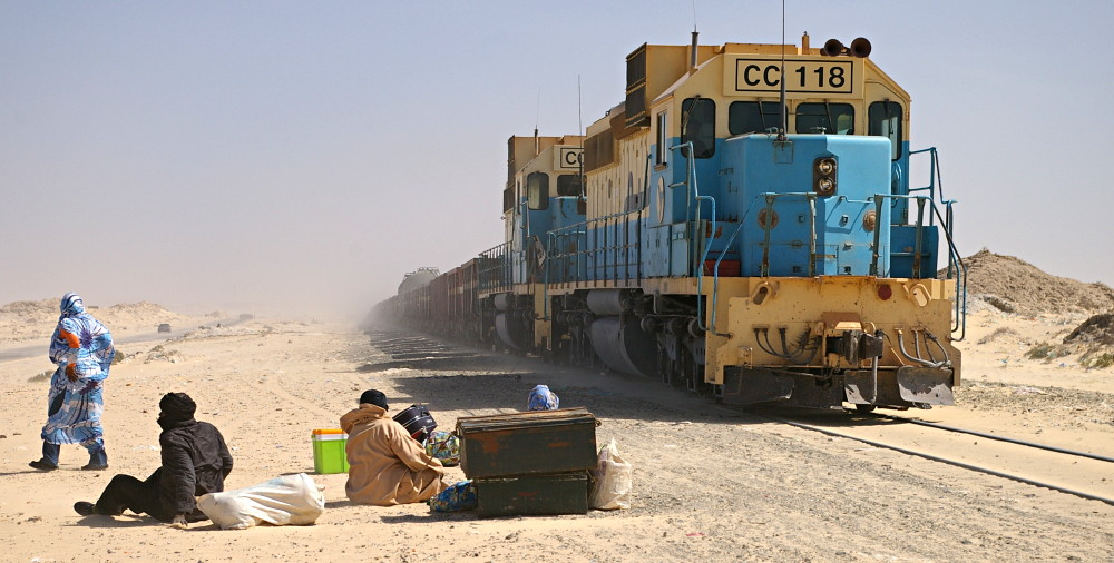 Train ride through the Sahara Desert