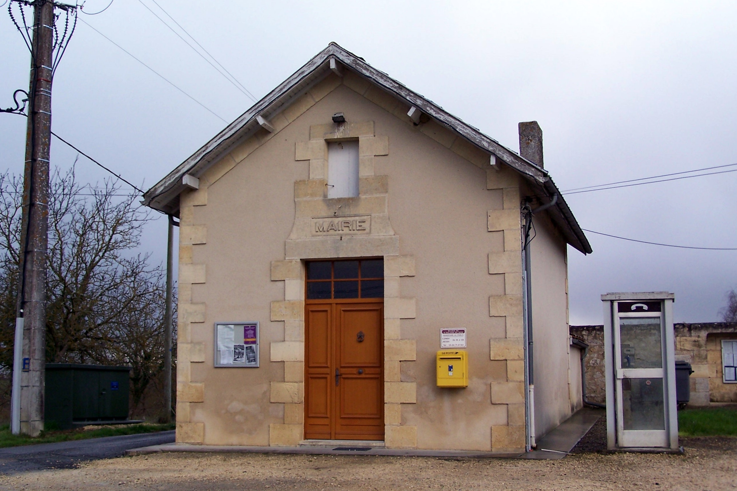 FichierSaintHilaireduBois 33 Mairiejpg — Wikipédia ~ Bois Bernard Mairie