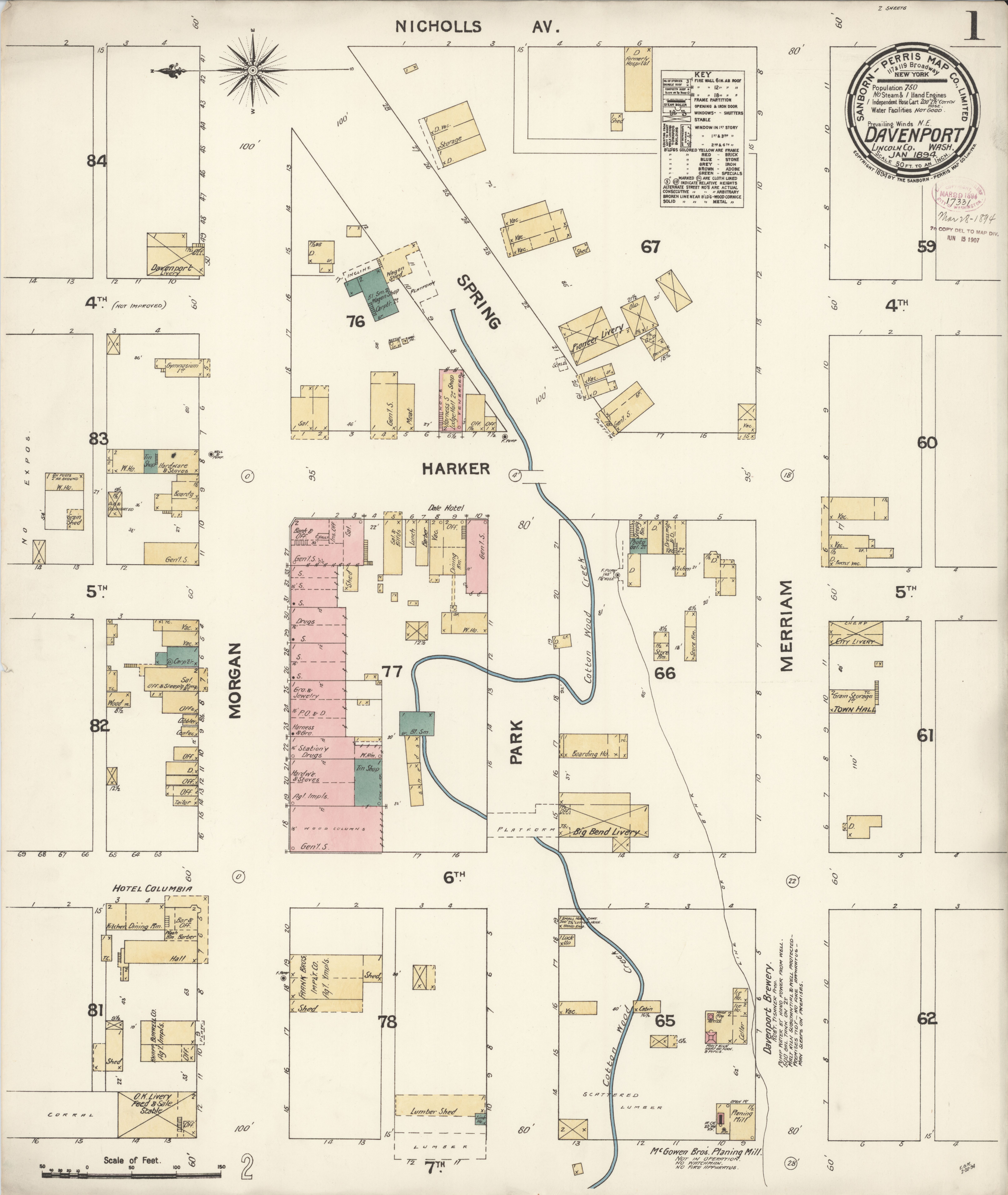 Davenport Washington Map.File Sanborn Fire Insurance Map From Davenport Lincoln County