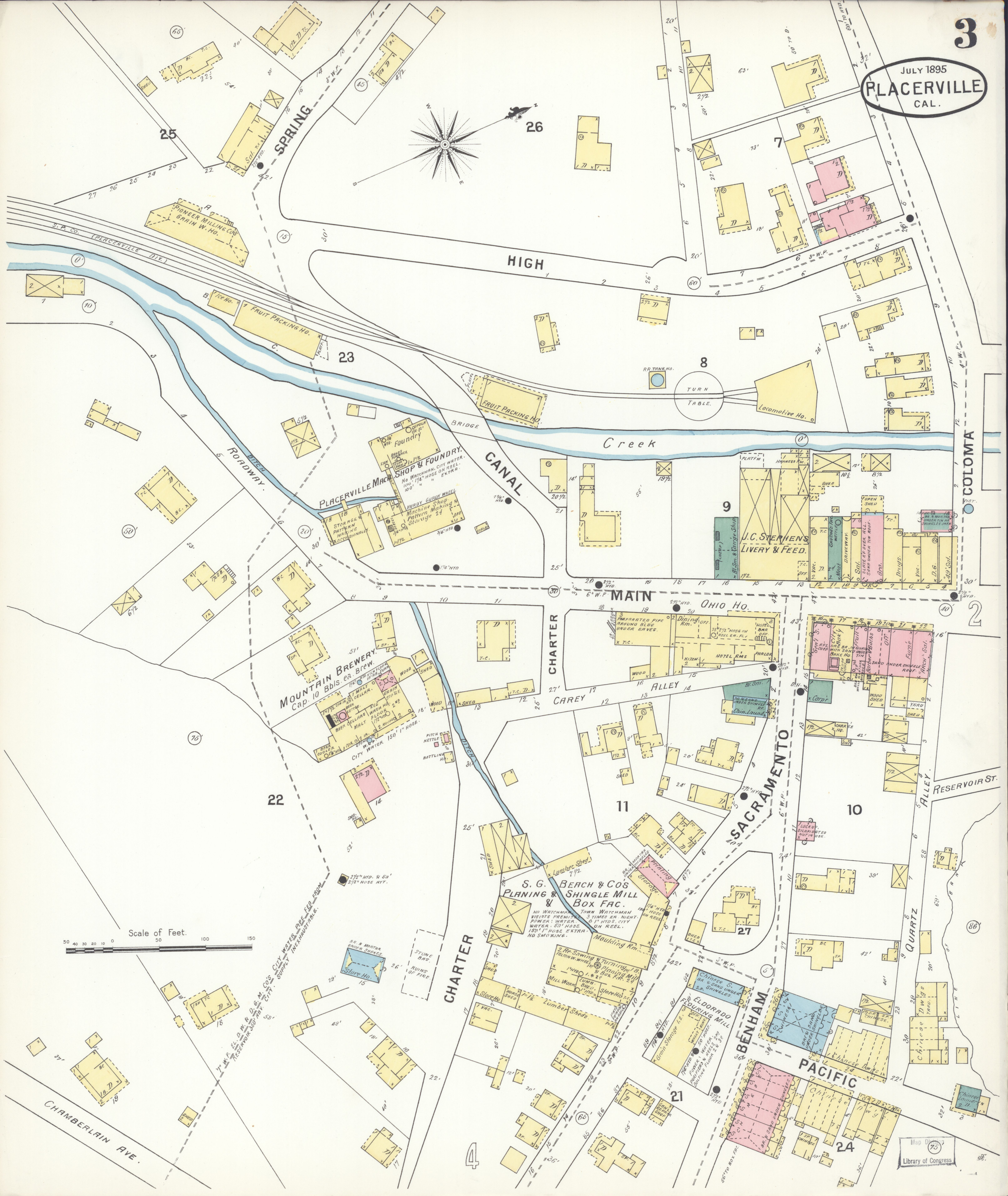 Placerville California Map.File Sanborn Fire Insurance Map From Placerville El Dorado County