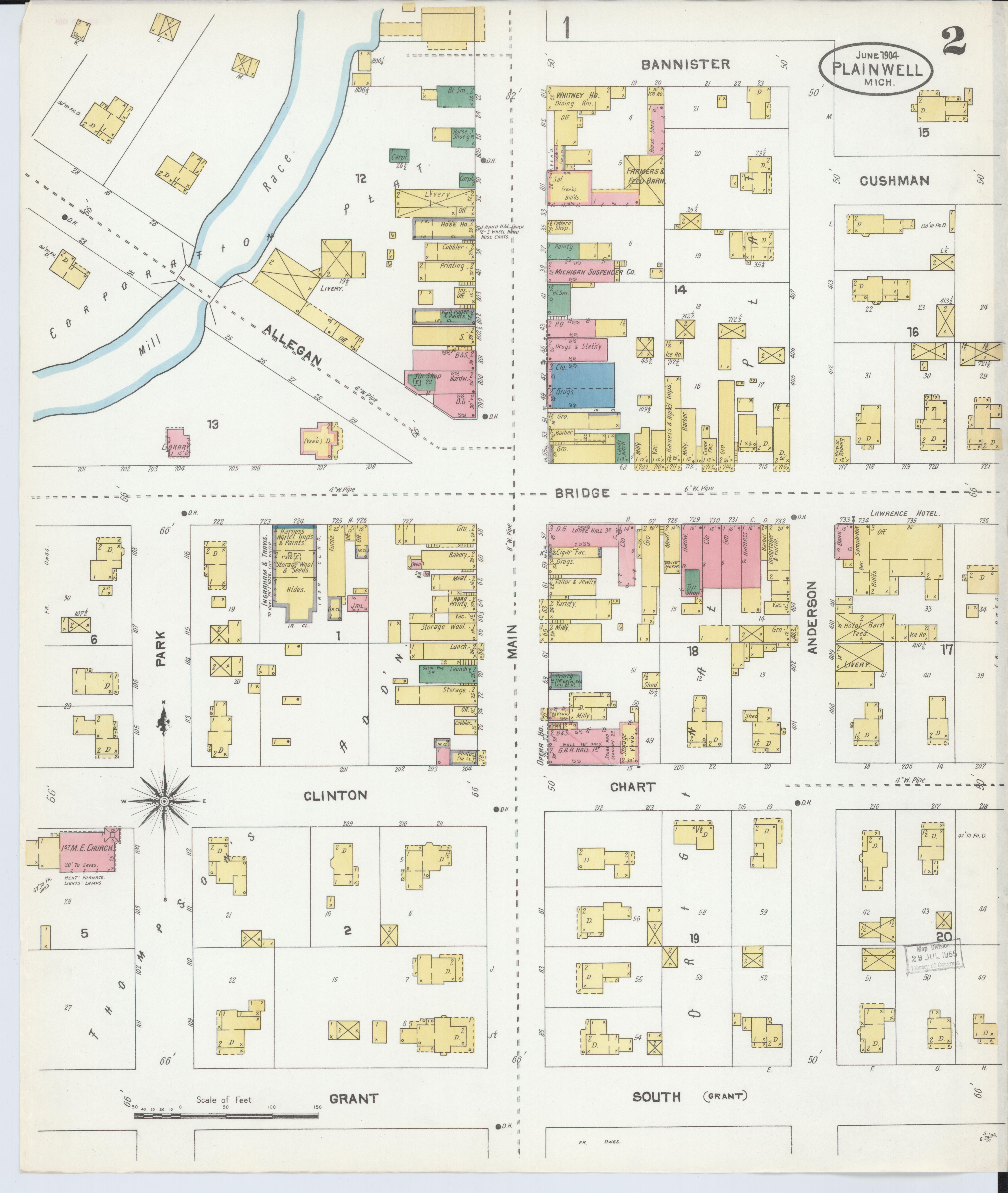 Plainwell Michigan Map.File Sanborn Fire Insurance Map From Plainwell Allegan County