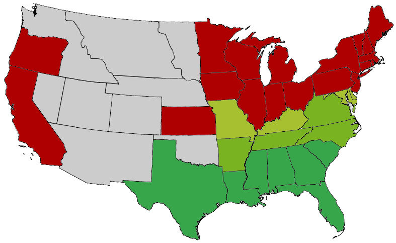 FileSecession Map of the United States 1861png  Wikimedia Commons