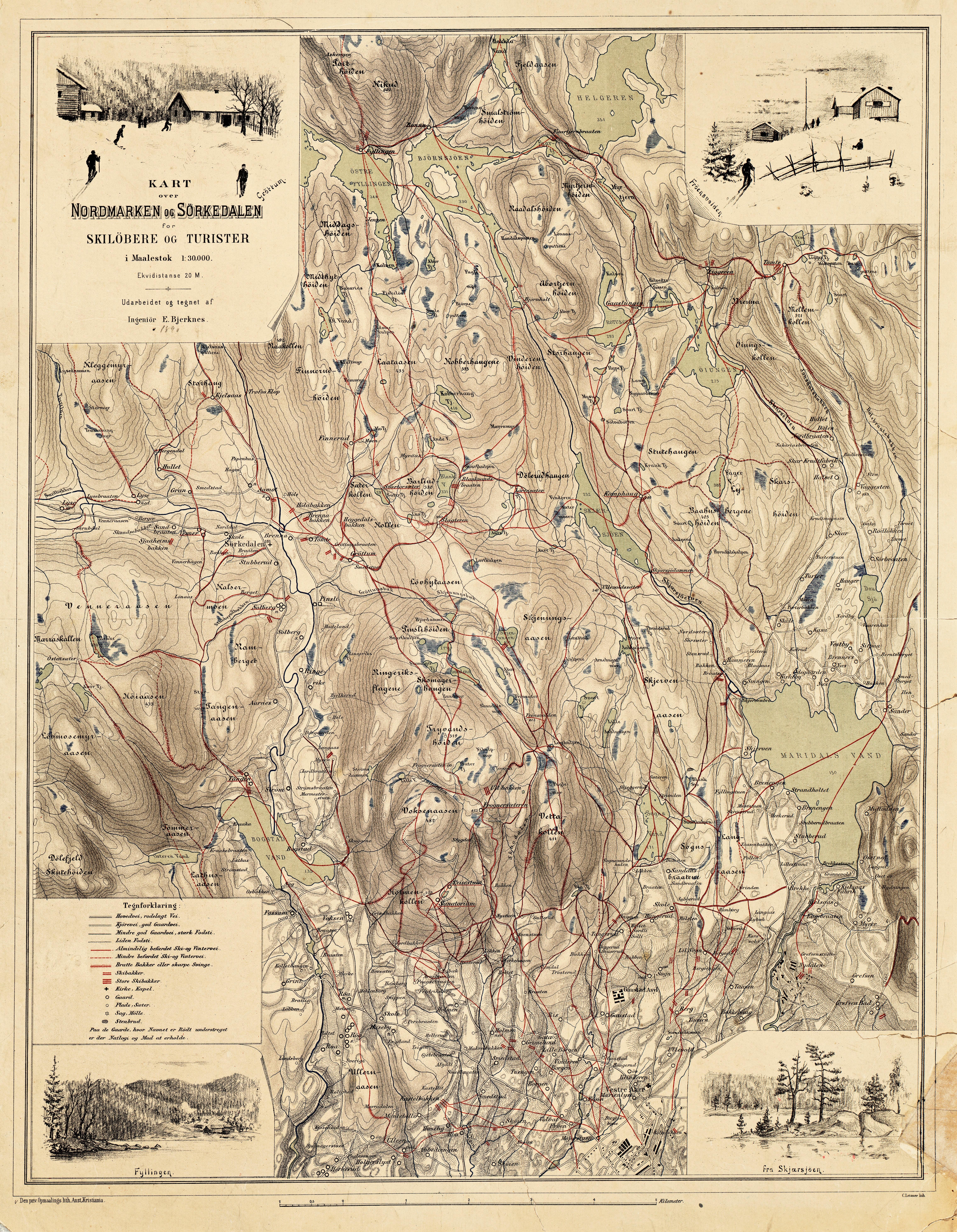 kart over sørkedalen File:Skikart over Nordmarken og Sørkedalen   no nb krt 00550.  kart over sørkedalen