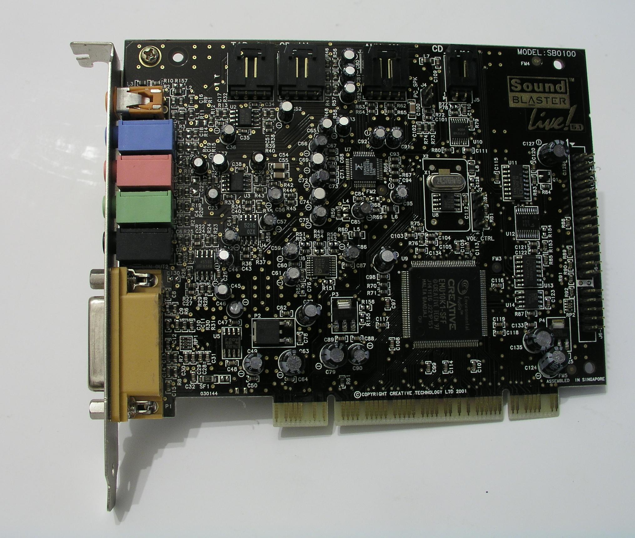 Sound Blaster Sb0100 Driver