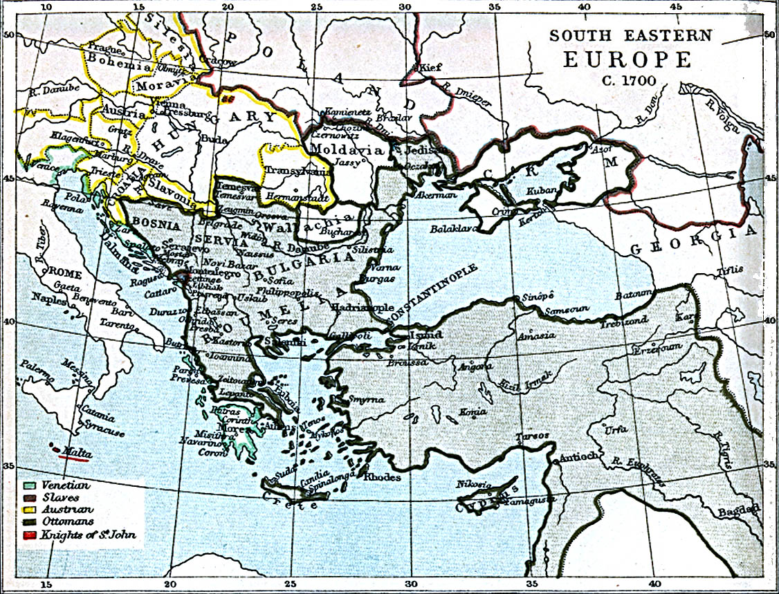 map of eastern europe 1700 File:South eastern Europe 1700.   Wikimedia Commons