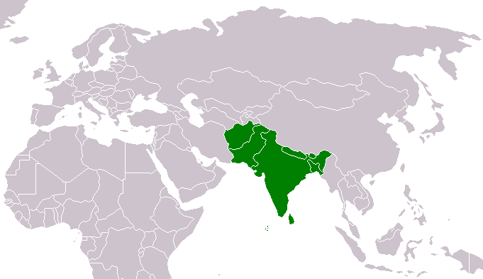 Area thats native to the Indian Peafowl