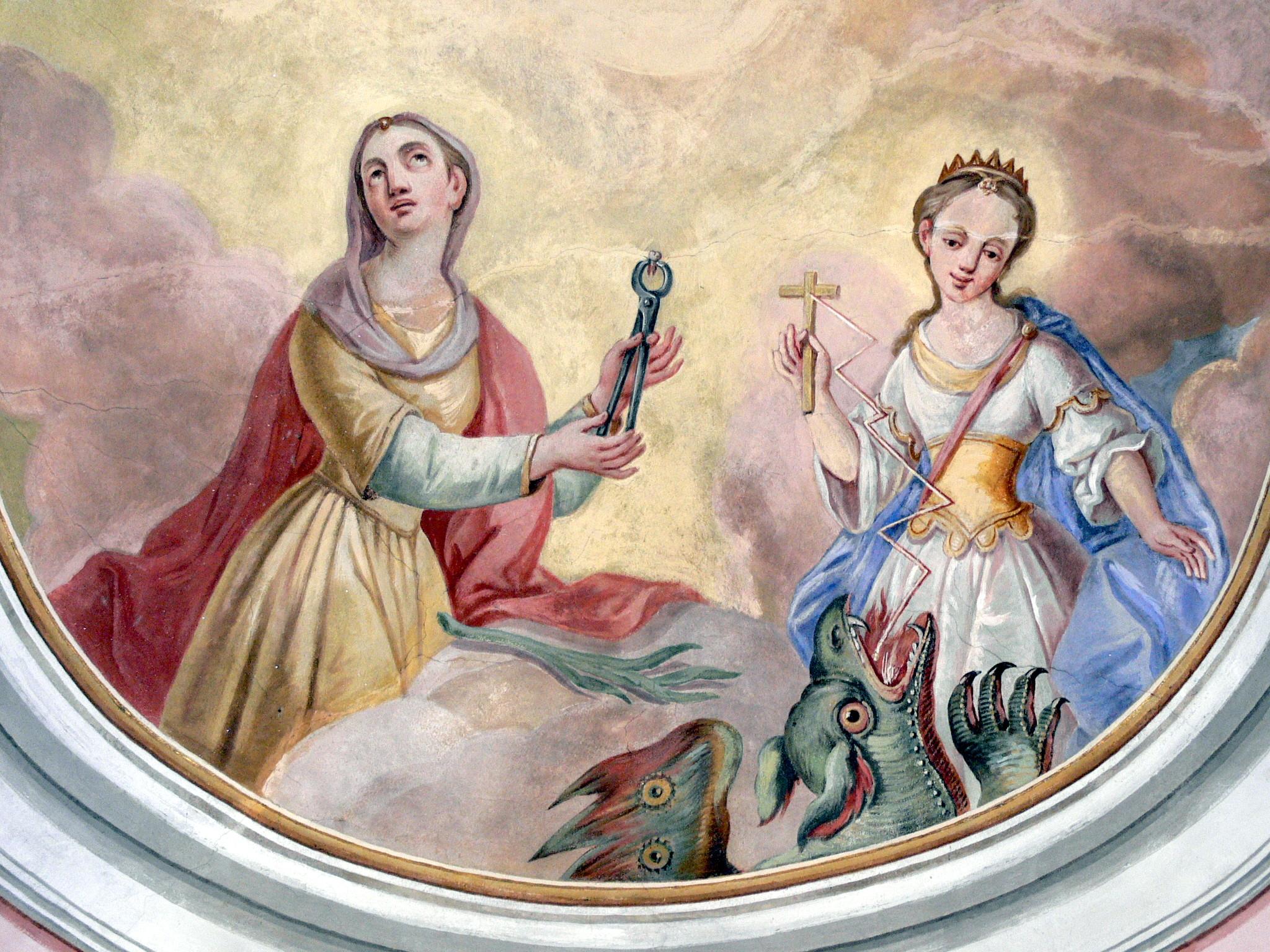 [Image: Stadtkirche_Fresco-_Apollonia_und_Margarete.jpg]
