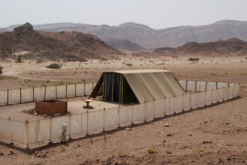 Model of the tabernacle, as seen in Israel, Timna Park (from Wikipedia)