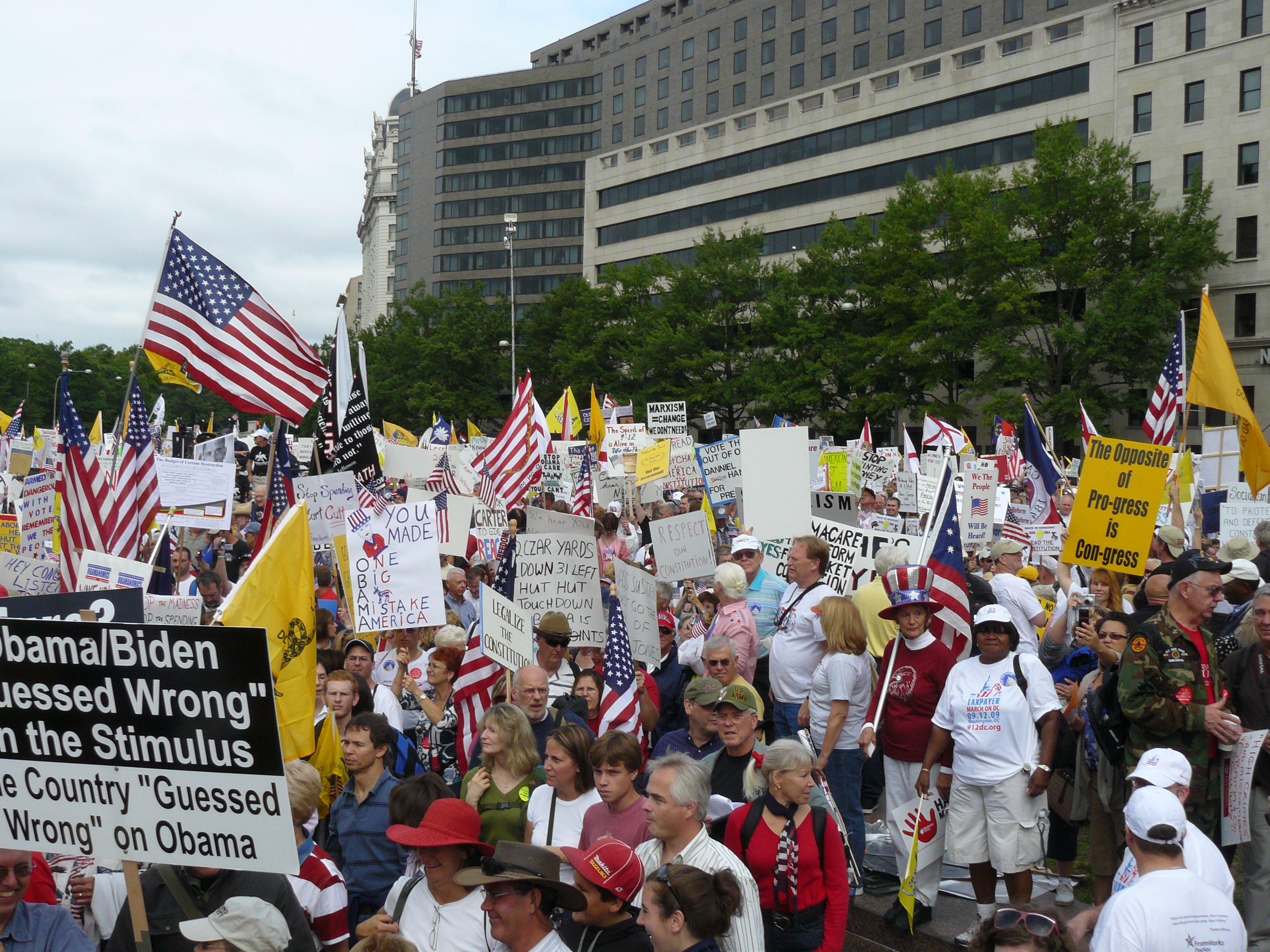 Tea Party protesters during the Taxpayer March on Washington, September 12, 2009.