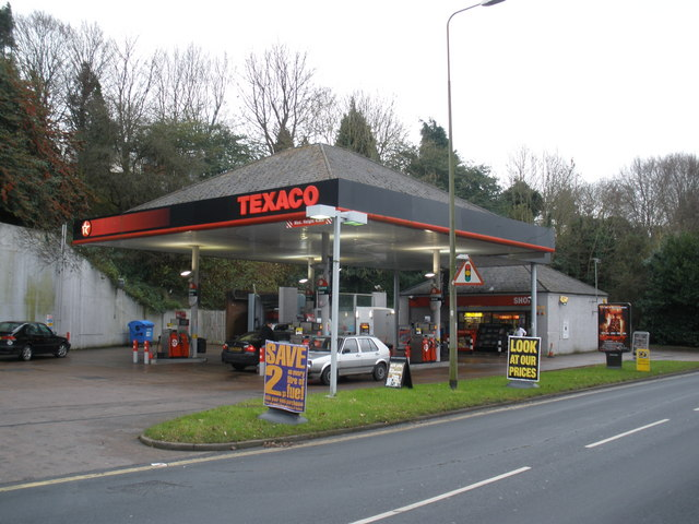 File Texaco Service Station Honiton Road Heavitree