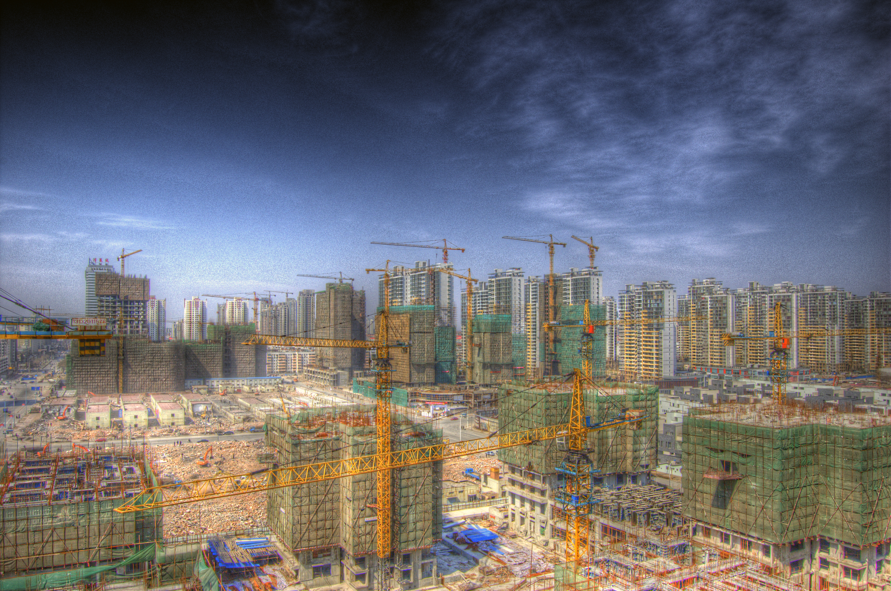 File tianjin construction site jpg wikimedia commons for Site constructeur