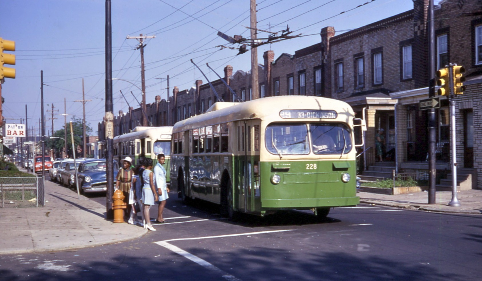 File Two Phila Brill Trolleybuses At Tasker Amp 32nd Route