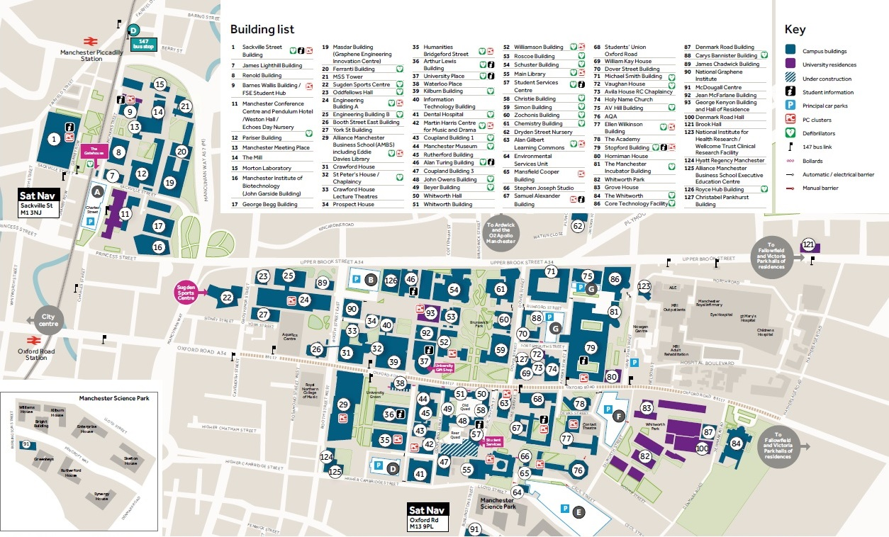 Manchester University Campus Map File:UOMCampusmap.   Wikimedia Commons