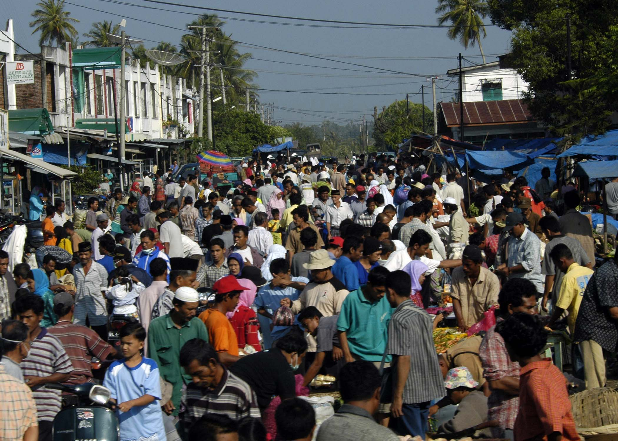 A BUSY MARKET