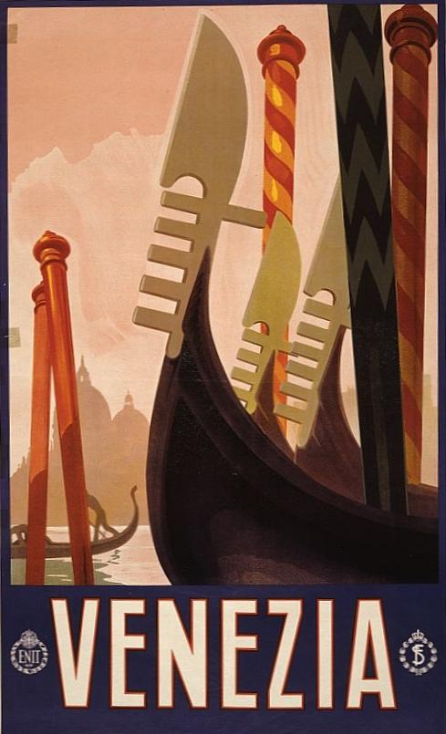 Affiche touristique de l'ENIT des années 1920.