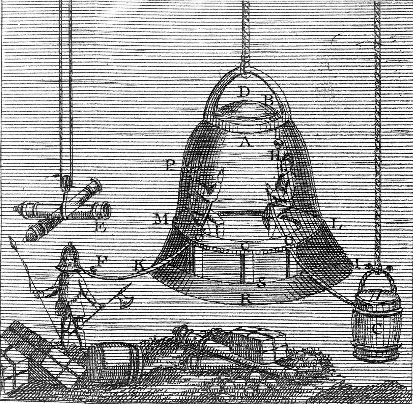 O sino de mergulho faz parte da História do Mergulho