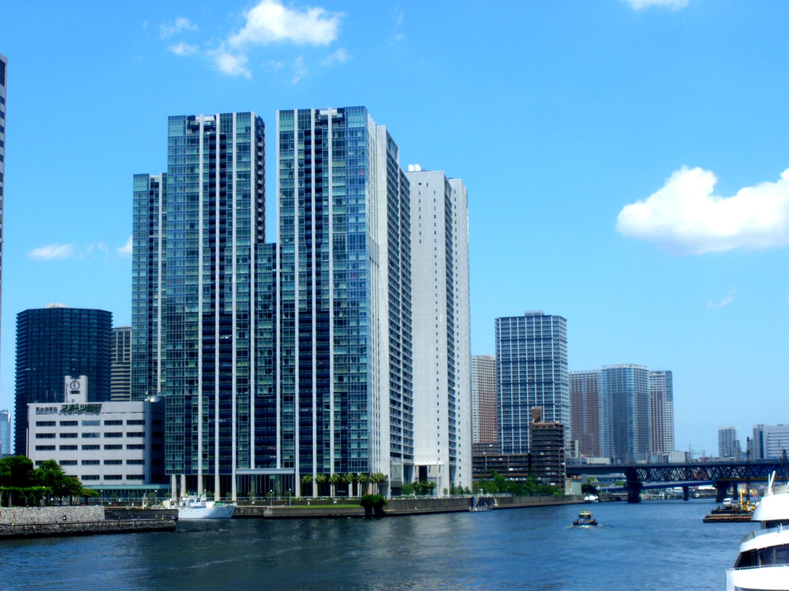 fileworld city towers seen from shinagawafuto bridge 2009jpg wikimedia commons