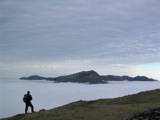 Yr Wyddfa o Foel Hebog. Snowdon from Moel Hebog - geograph.org.uk - 356010