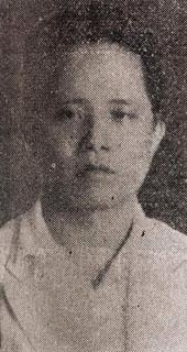 Medical doctor and Taipei City Councilor Huang Chao-sheng lost and murdered in Taipei Er Er Ba Shi Jian Hou Zao Guo Min Dang Zheng Fu Sha Hai De Tai Bei Shi Can Yi Hui Yi Yuan Huang Zhao Sheng Yi Shi Taiwanese Doctor & Taipei City Councilor Huang Chao-sheng who murdered by the KMT government in the 1947 228 Incident.jpg