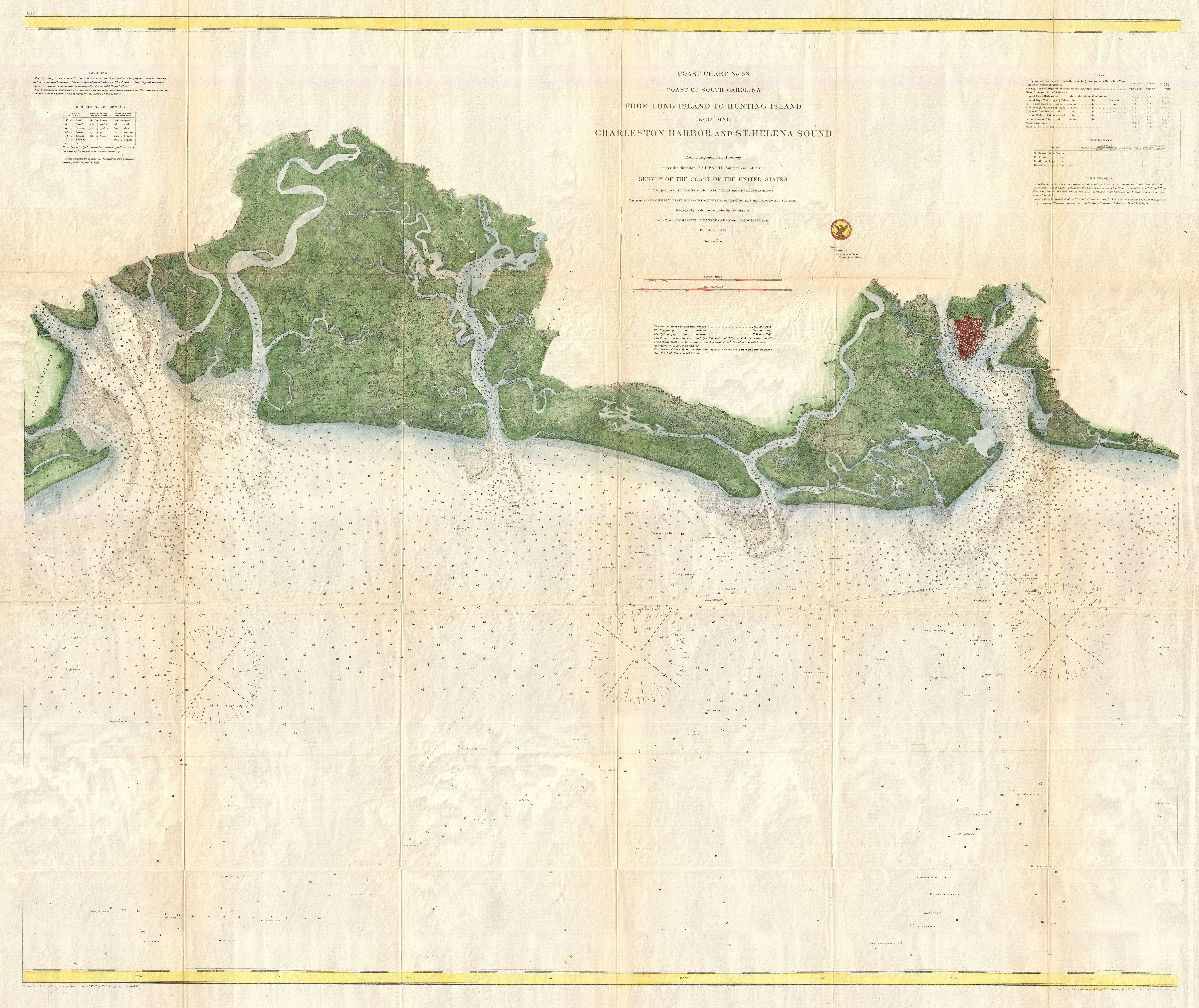 File 1866 U S Coast Survey Chart Of The South Carolina Coast Charleston To St