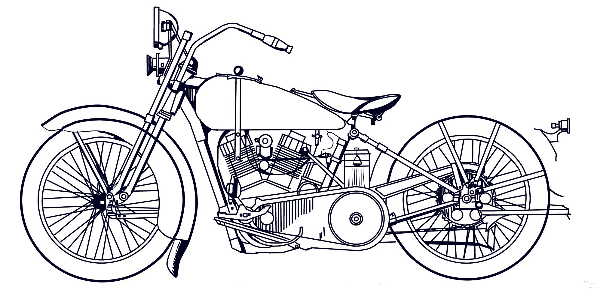 Harley davidson drawing