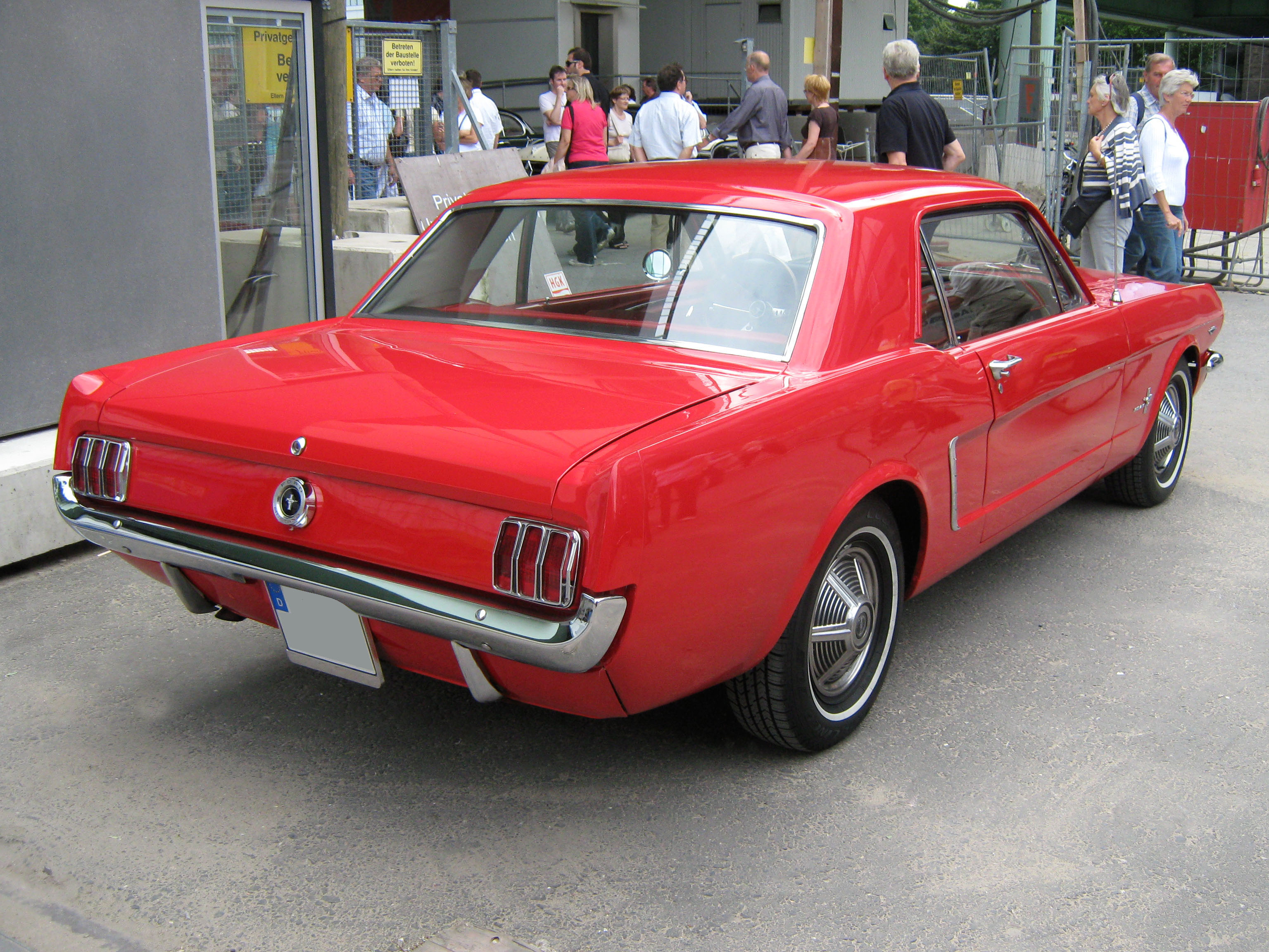 File 1965 Ford Mustang 2d Hardtop Heck Jpg Wikimedia Commons