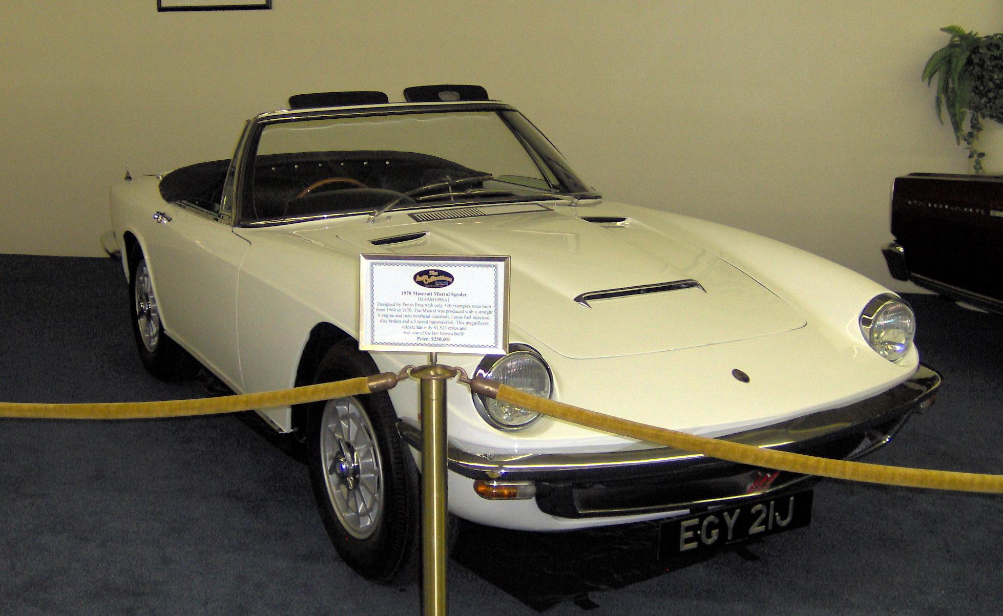 File:1970 Maserati Mistral Spyder.JPG - Wikimedia Commons
