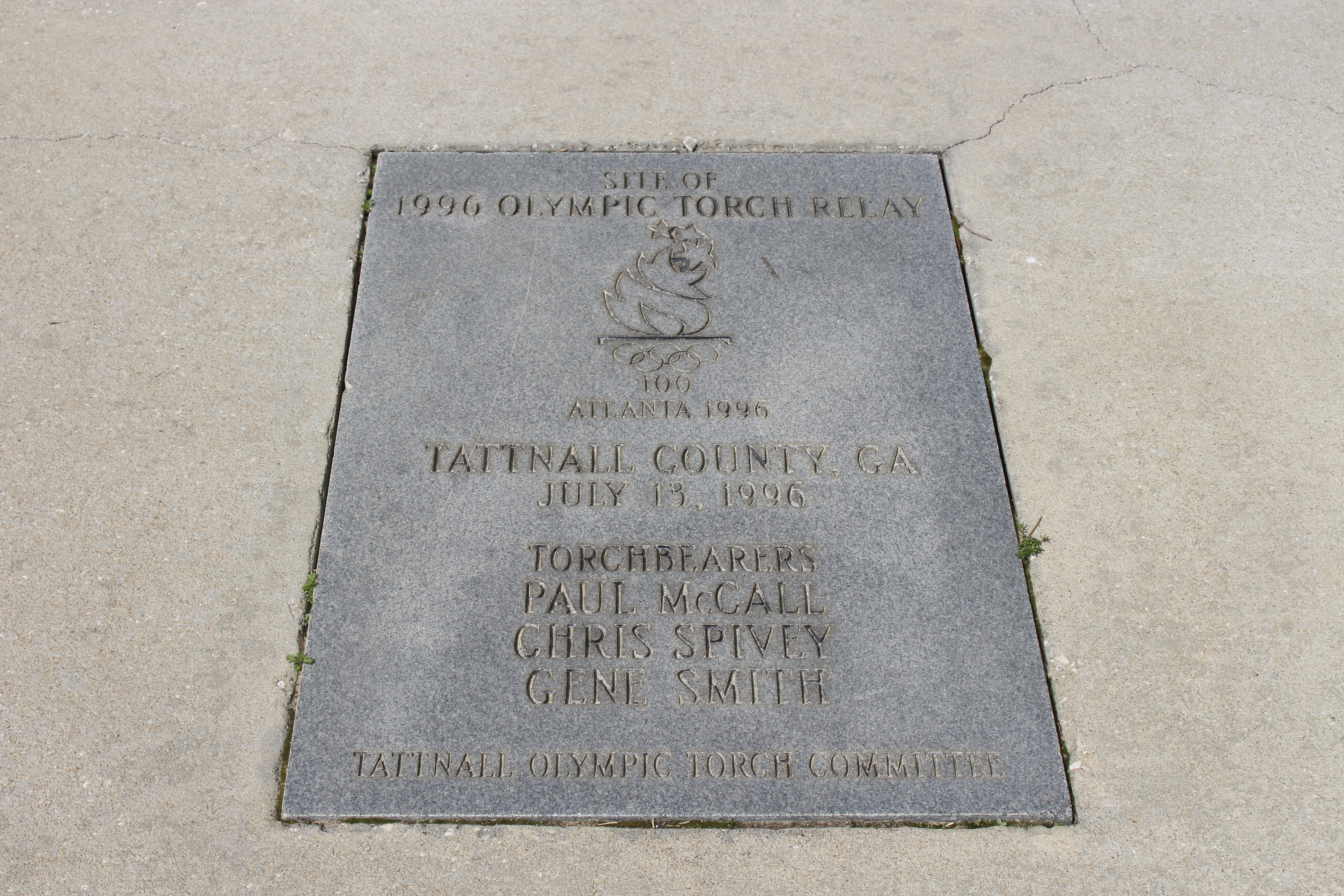 File:1996 Olympic Torch Relay plaque, Reidsville jpg - Wikimedia Commons