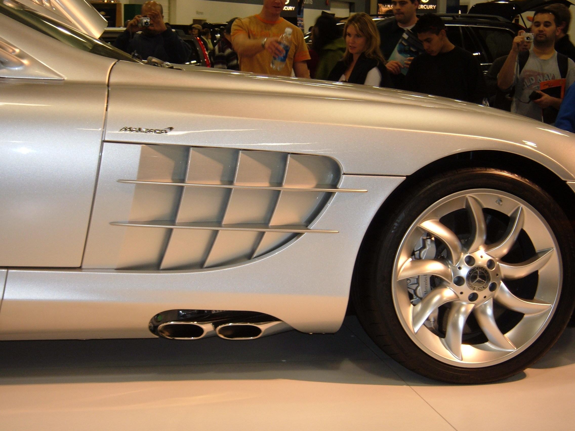 File 2005 Silver Mercedes Slr Passenger Side Exhaust Jpg