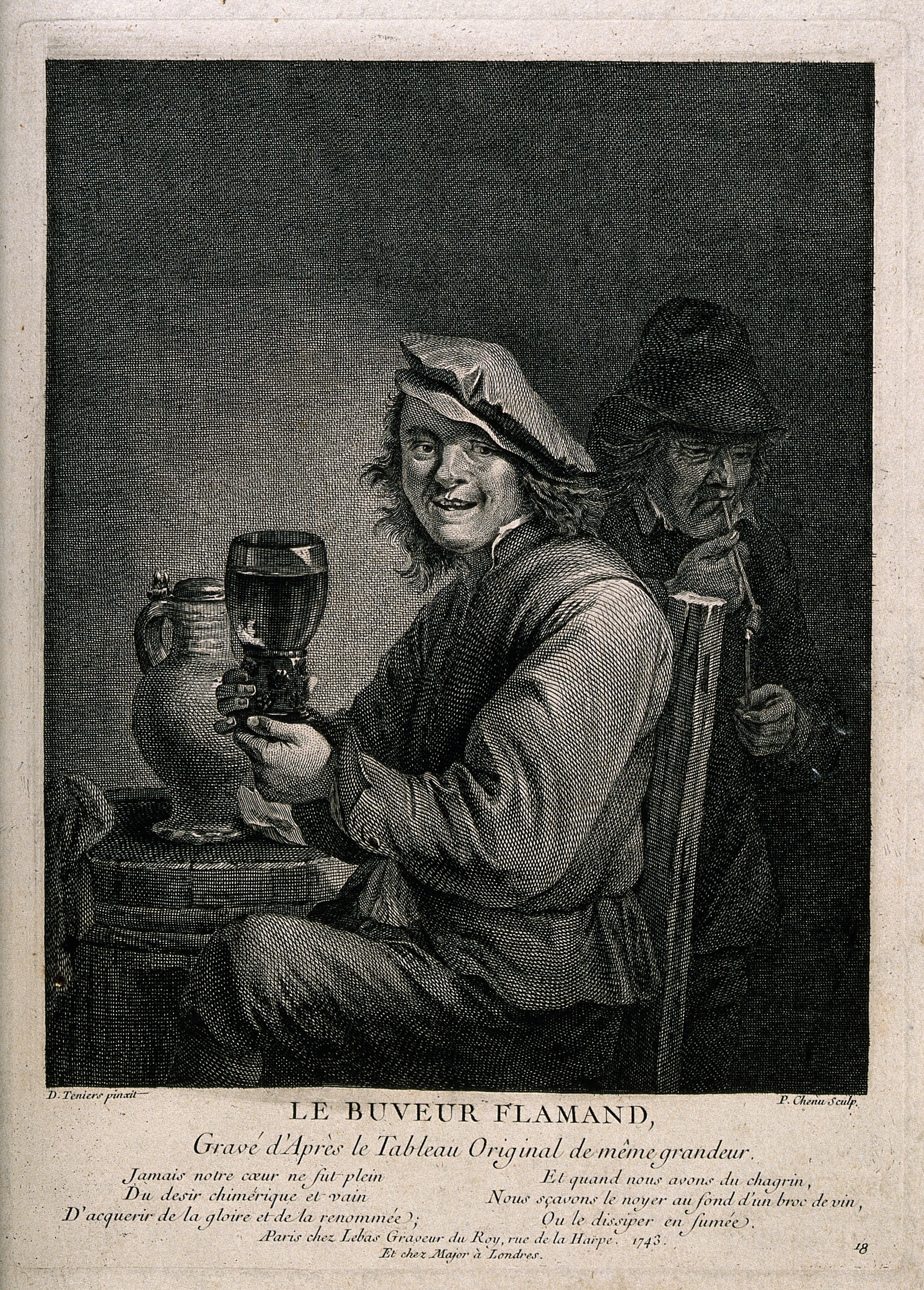 File:A man sits holding a large glass of wine, behind a man light ...