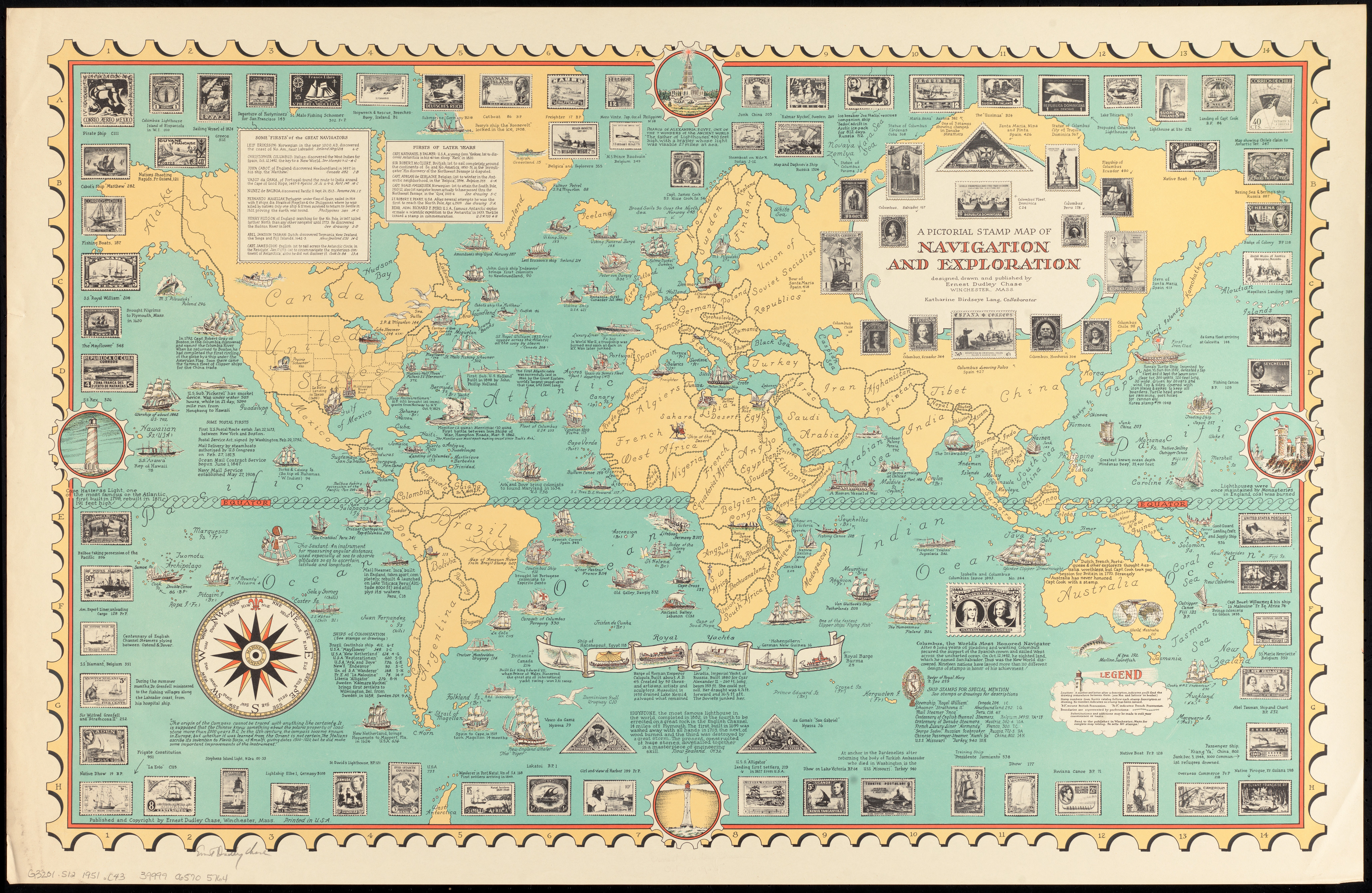 Navigation World Map.File A Pictorial Stamp Map Of Navigation And Exploration